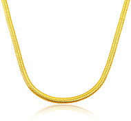 18K Gold Plated Necklace Men& Women Jewelry Wholesale New Trendy 6.5 MM Wide Snake Chain Necklace N50129
