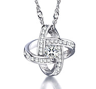 Necklace Pendant Necklaces Jewelry Daily / Casual Birthstones Silver / Sterling Silver Silver 1pc Gift