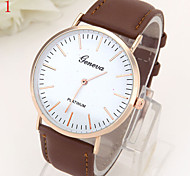 Ladies' Watch Simple Dial Quartz Leather Watch
