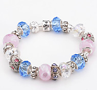 Fashion Jewelry Bracelets&brangle Glass European Beads bracelets for Women Gift Strand Beads bracelets BLH076