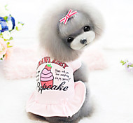Dog Dress White / Pink Dog Clothes Winter Fashion
