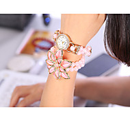 YILISHA ® Women Fashion Bracelet Watch Candy Color Bead Strap Watch Round Dial Quartz Dress Watches Jewelry Big Flower Cool Watches Unique Watches