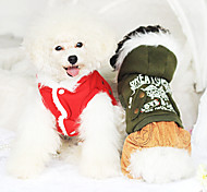 Dog Coat / Clothes/Jumpsuit Red / Green Dog Clothes Winter Fashion