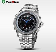 WEIDE® Men's Full Steel Analog Digital Auto Date Alarm LED Display Sport Watch