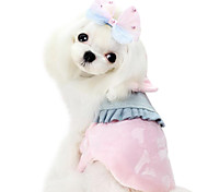Dog Dress Yellow / Blue / Pink Dog Clothes Winter Fashion