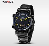 WEIDE® Men's Full Steel Watch Sports Quartz LED Analog Display Wristwatch