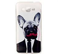 Gentleman Dog Pattern TPU Soft Case Phone Case For Samsung Galaxy J5/J1/G530