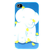 White Elephant Pattern Hard Case for iPhone 4/4S