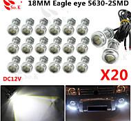 20 X 9W LED Eagle Eye Light Car Fog DRL Daytime Reverse Backup Parking Signal 12V