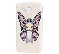 Angel Pattern TPU Material Phone Case for Samsung Galaxy J5