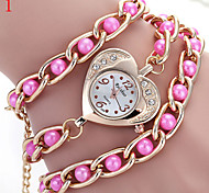 Ladies' Watch Heart-Shaped Diamond Dial Multicolor Pearl Quartz Watch
