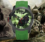 Men watch Quartz Waterproof Sports Watch Calendar Genuine Rubber Wristwatch (Assorted Color) Wrist Watch Cool Watch Unique Watch