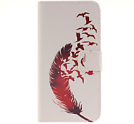 Red feather Patterns PU Leather Full Body Case with Card Slot for Samsung Galaxy A9/A9000