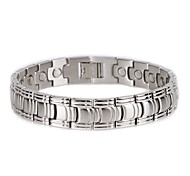 Healing Magnetic Bracelet Men 316L Stainless Steel 3 Health Care Elements(Magnetic,FIR,Germanium)Sliver Hand Chain