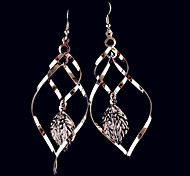 The Leaves Surrounded On Three Sides Geometry Women Alloy Earrings
