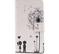 Couples dandelion Pattern PU Leather Full Body Case with Card Slot for Samsung Galaxy A9/A9000