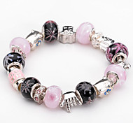 Fashion Jewelry Bracelets&brangle Glass European Beads bracelets for Women Gift Strand Beads bracelets BLH073