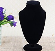Velvet Necklace Jewelry Display Stand Neck Bust 7x4