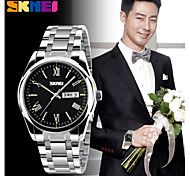 SKMEI Men's 304 Stainless Steel Calendar/Water Resistant  Japanese Quartz Dress Watch Cool Watch Unique Watch