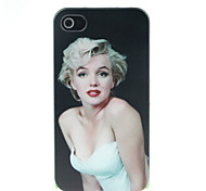 Sexy Monroe Pattern Hard Case for iPhone 4/4S