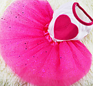 Dog Dress Red Spring/Fall Hearts Fashion