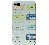 Magnetic Tape Pattern Pattern Hard Case for iPhone 4/4S