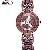 WEIQIN® Antique Coffee Rhinestone Bracelet Watches Women Lady Timepiece Waterproof Fashion Wristwatch Dress Watch Girls
