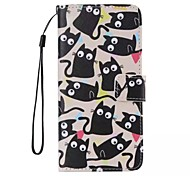 iPhone 7 Plus Little Cat Painted PU Phone Case for iPhone 6s 6 Plus SE 5s 5c 5 4s 4