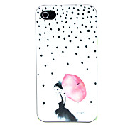 Umbrella Girl Pattern Hard Case for iPhone 4/4S