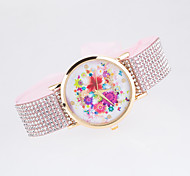 2016 New Arrival Fashionable Ladies Wristwatch With Special  Design Of Strap with Rhinestone Fabric Women's Wristwatch