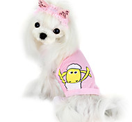 Dog Shirt / T-Shirt Pink / Yellow Dog Clothes Summer Fashion
