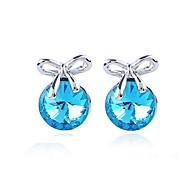 Austria Crystal Stud Earrings for Women Bow Earrings Fashion Jewelry Accessories
