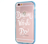 White Phrase Design Back Cover+Bumper Cover for IPhone 6/6S