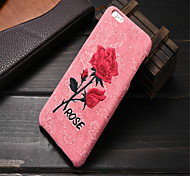 Chic Rose Embroidery Case  Hard Art Handmade Flower Cover Elegant Retro Phone Cover iPhone 6 /6S