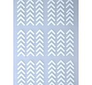 1 Sheet White Metallic Design Shape Nail Art Decal Hollow Sticker 3D Decal Manicure Decoration STZ-K23