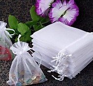 Organza Drawstring Jewellery Wedding Gift Bag Pouch white