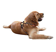 Dog Harness Adjustable/Retractable Black / Green / Orange Nylon