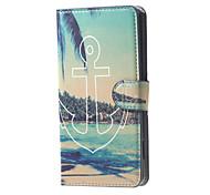 якорь у моря вид шаблон бумажник кожаный флип стенд случай с слотом для карт Microsoft Lumia 650