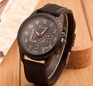 Men's Fashion Silicone Band Quartz Analog Sports Wrist Watch(Assorted Colors) Cool Watch Unique Watch