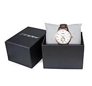 SINOBI Men's Wrist watch Calendar Water Resistant / Water Proof Sport Watch Quartz Leather Band Luxury Brown