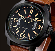 Men NAVIFORCE watch Quartz Waterproof Sports Watch Calendar Genuine Leather Wristwatch Cool Watch Unique Watch