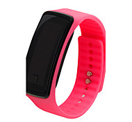thin rubber jelly ion sports bracelet wrist watch for ladies student
