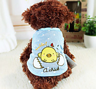 Dog Hoodie Blue / Pink Winter Cartoon Fashion