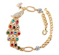 Hot New Charming Lovely Simple Bling Elegant Peacock Crystal Bracelet Bangle Party Jewelry For Women