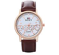 Men's PU Analog Mechanical Wrist Watch
