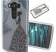 2-in-1 Butterfly Dress Pattern TPU Back Cover with PC Bumper Shockproof Soft Case for LG V10/G4 Pro