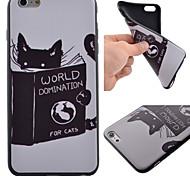 Cute Cat Pattern Black TPU Soft Case Phone Case for iPhone 6 Plus/6S Plus