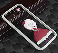 Lightning Glow in Dark With the Rope Pink Hair Girl Acrylic Back+TPU Frame Back Cover for Samsung Galaxy S6