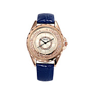 Women's  Fashion  Simplicity  Creative Quartz Rhinestone Leather Lady Watch Cool Watches Unique Watches