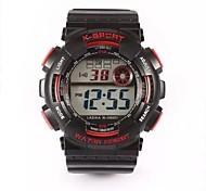 Unisex Sportuhr digital Plastic Band Armbanduhr Schwarz
